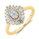 Evermore Engagement Ring with 0.62 Carat TW of Diamonds in 10ct Yellow Gold