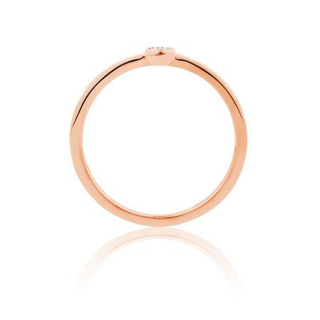 Diamond Set Ring in 10ct Rose Gold