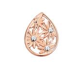 Diamond Set Daisy Mini Coin Locket Insert in 10ct Rose Gold