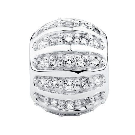 Online Exclusive - Cubic Zirconia & Sterling Silver Charm