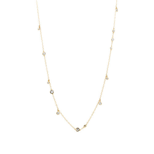 Necklace with 0.47 Carat TW of Diamonds in 10ct Yellow Gold