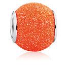 Orange Glitter Enamel Charm