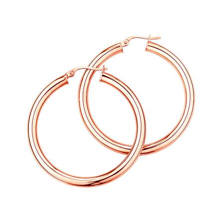 29mm Hoop Earrings in 10ct Rose Gold