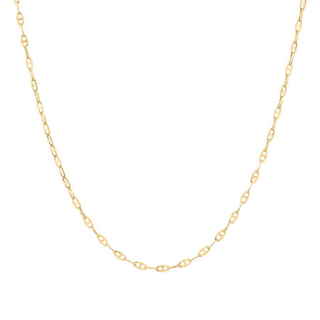 """40cm (16"""") Hollow Fancy Chain in 10ct Yellow Gold"""