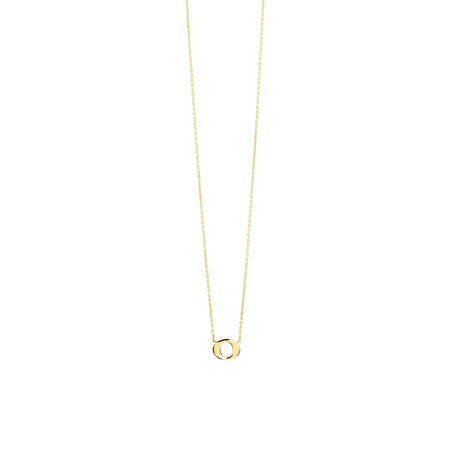 """O"" Initial Necklace In 10ct Yellow Gold"