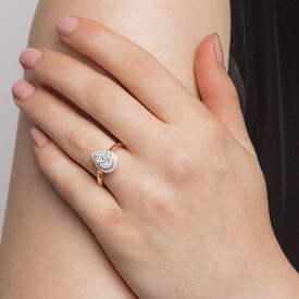 Engagement Ring with 3/4 Carat TW of Diamonds in 10ct Yellow & White Gold