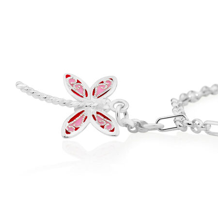 "25cm (10"") Dragonfly Anklet in Sterling Silver"