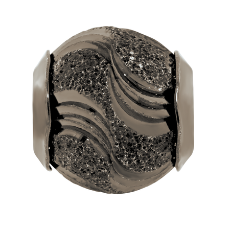Sterling Silver Patterned Swirl Charm