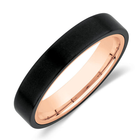 Ring in Black Titanium & 10ct Rose Gold