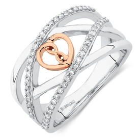 Infinitas Ring with 1/4 Carat TW of Diamonds in 10ct Rose Gold