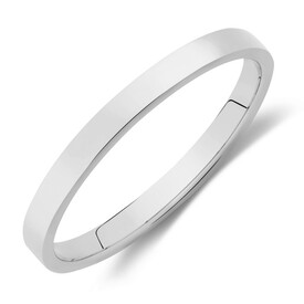 Lite Half Round Wedding Band in 10ct White Gold