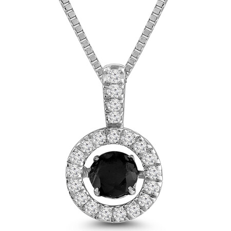 Everlight Pendant with Sapphire and 0.50 Carat TW of Diamonds in 10ct White Gold