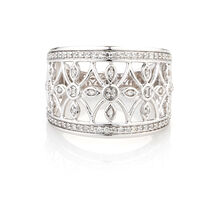 Online Exclusive - Diamond Ring with 1/4 Carat TW of Diamonds in 10ct White Gold