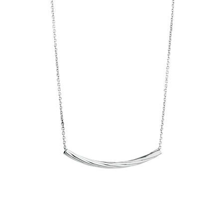 Necklace with Twist Tube in Sterling Silver