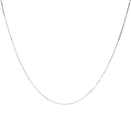 "45cm (18"") Box Chain in 18ct White Gold"