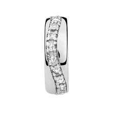 Diamond Set Swirl Spacer