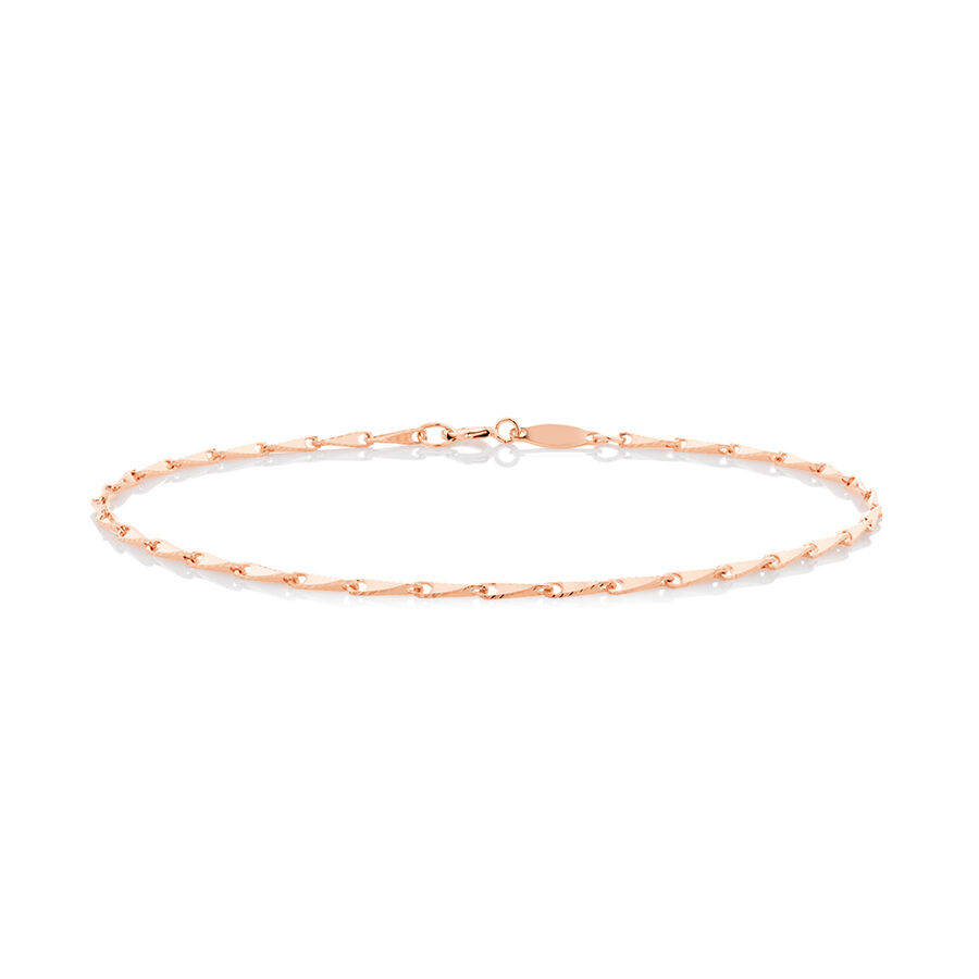 Infinity Bracelet in 10ct Rose Gold