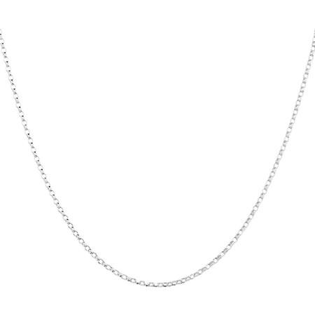 """40cm (16"""") Hollow Belcher Chain in 10ct White Gold"""
