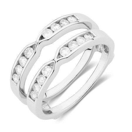 Enhancer Ring with 1/2 Carat TW of Diamonds in 14ct White Gold