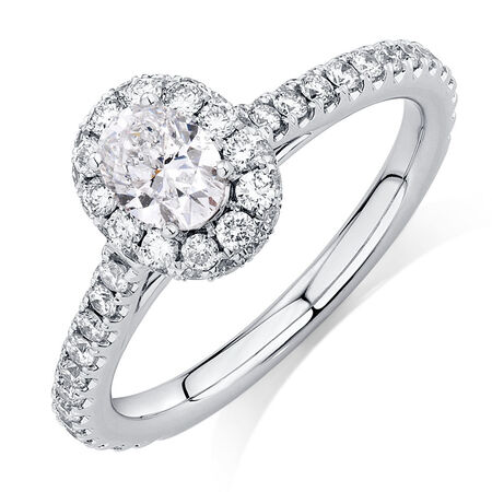 Sir Michael Hill Designer GrandAllegro Engagement Ring with 1 1/4 Carat TW of Diamonds in 14ct White Gold