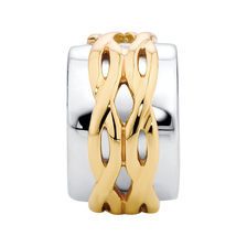 10ct Yellow Gold & Sterling Silver Patterned Charm