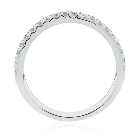 Wedding Band with 0.34 Carat TW of Diamonds in 14ct White Gold