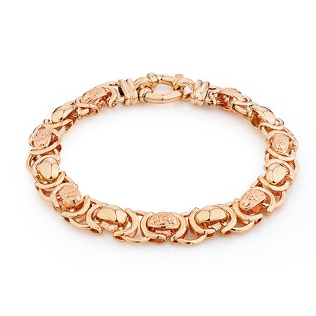 "19cm (7.5"") Bracelet in 10ct Yellow & Rose Gold"