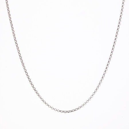 """50cm (20"""") Belcher Chain in 10ct White Gold"""