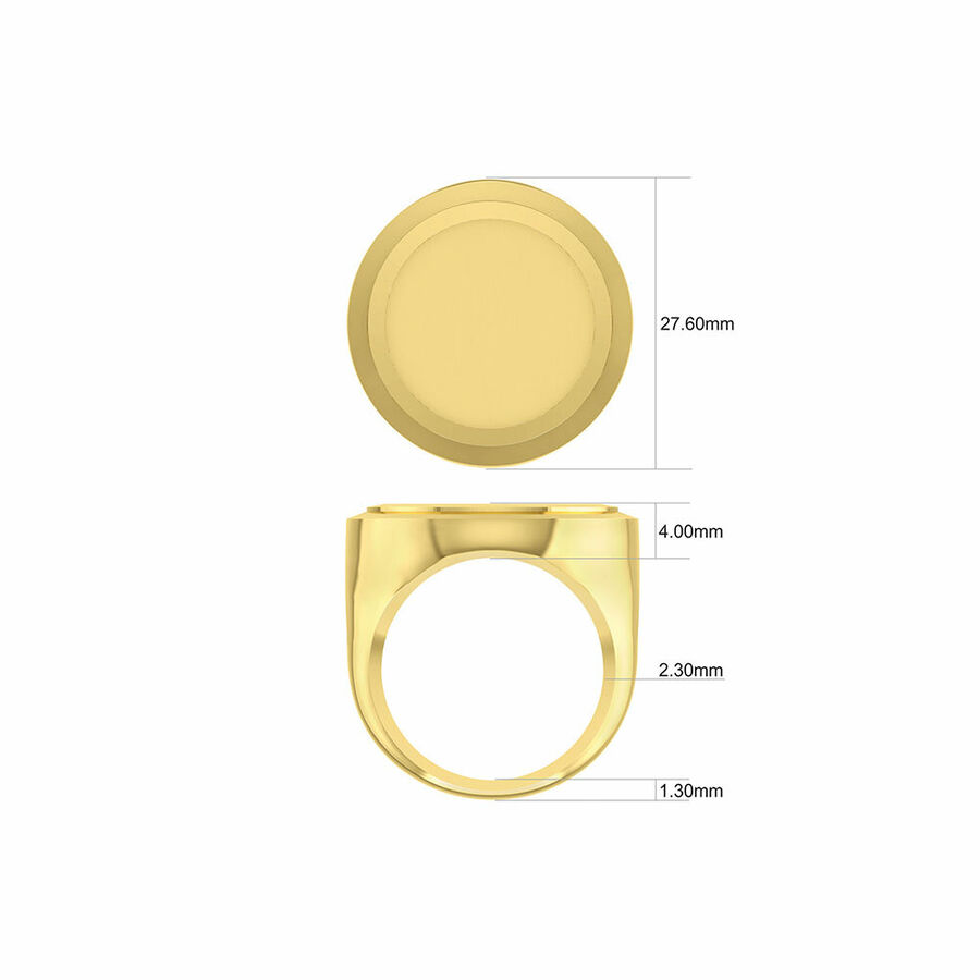 Full Sovereign Ring in 10ct & 22ct Yellow Gold