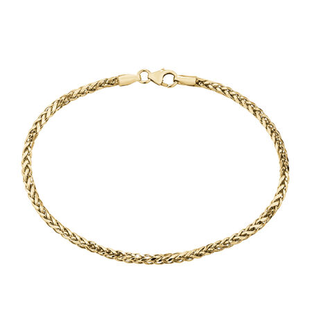 Wheat Bracelet in 10ct Yellow Gold