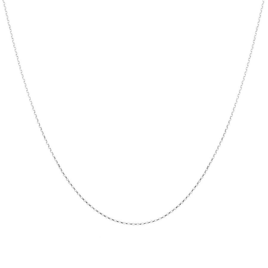 """60cm (24"""") Hollow Belcher Chain in 10ct White Gold"""