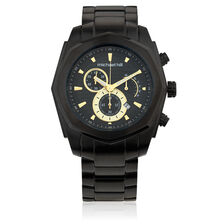 Men's Multi-function Watch in Black Stainless Steel