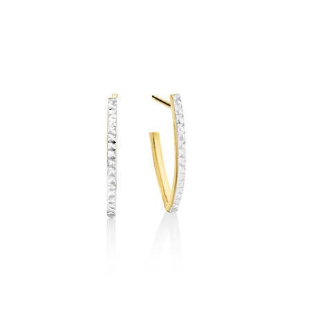 Stud Earrings In 10ct Yellow And White Gold