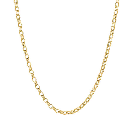 "50cm (20"") Oval Belcher Chain in 10ct Yellow Gold"