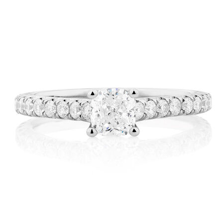 Sir Michael Hill Designer GrandAria Engagement Ring with 1.45 Carat TW of Diamonds in 14ct White Gold