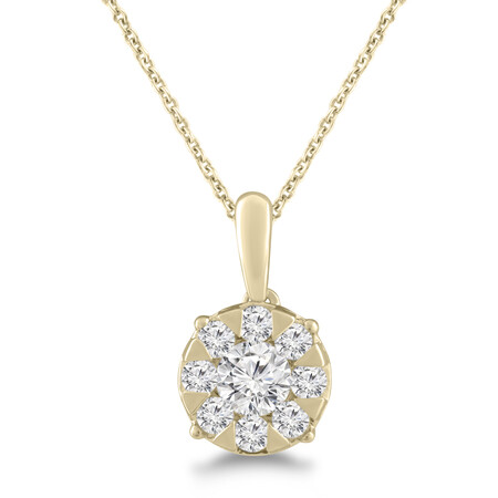 Pendant with 0.50 Carat TW of Diamonds in 10ct Yellow Gold