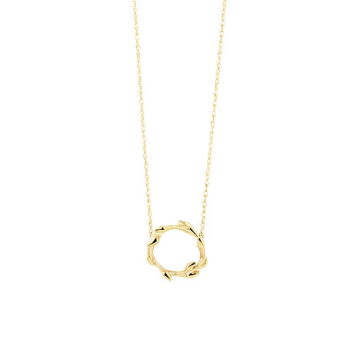 Willow Necklace In 10ct Yellow Gold