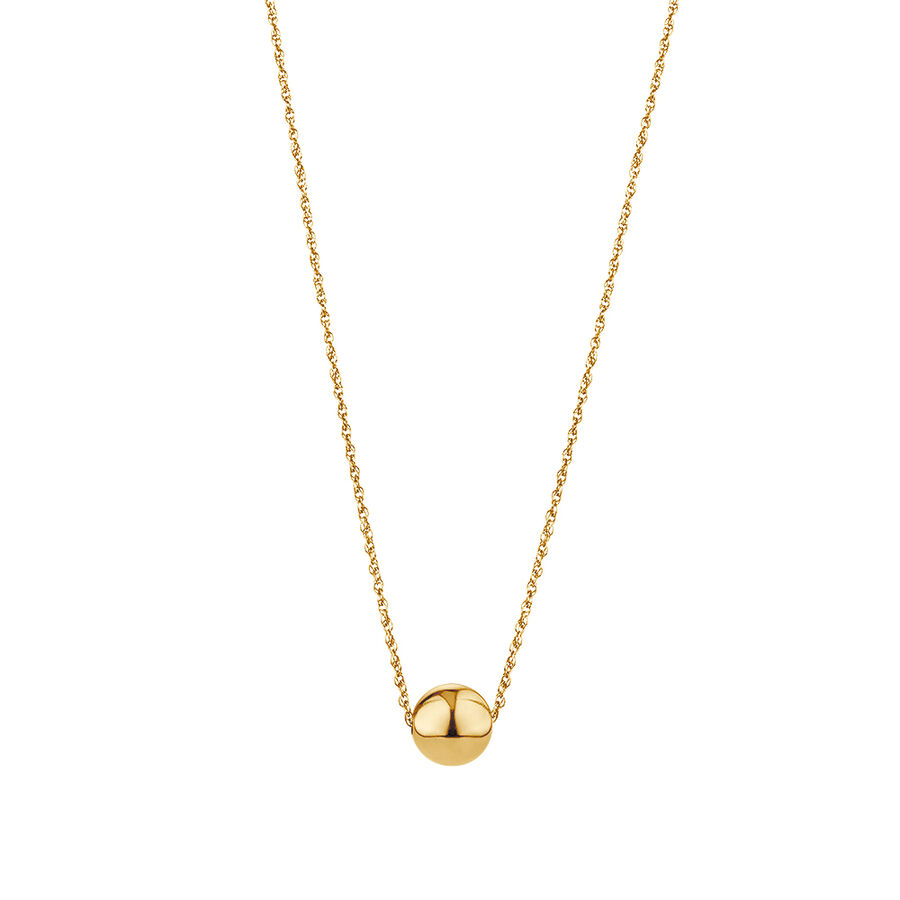 """45cm (18"""") 8mm Ball Necklace in 10ct Yellow Gold"""