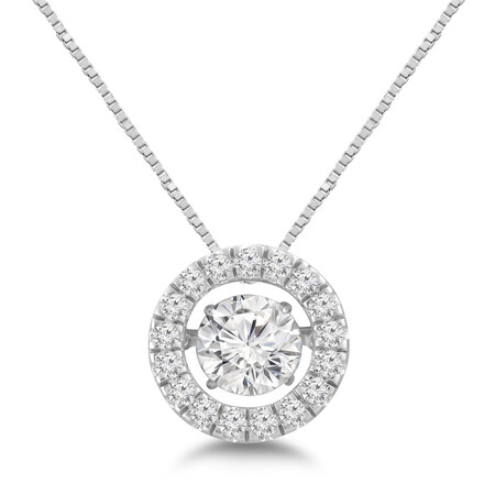 Everlight Pendant with 2 Carat TW of Diamonds in 14ct White Gold