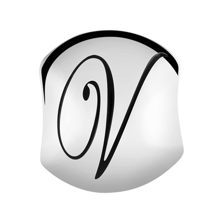 Sterling Silver 'V' Charm