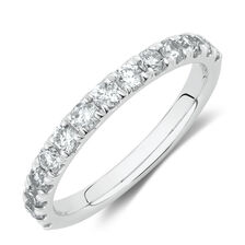 Evermore Wedding Band with 3/4 Carat TW Diamonds in 14ct White Gold