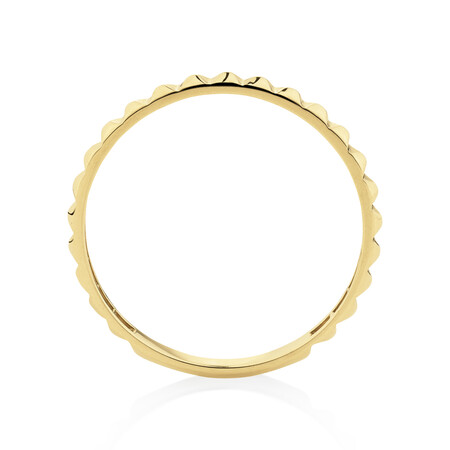 Square Stacker Ring in 10ct Yellow Gold