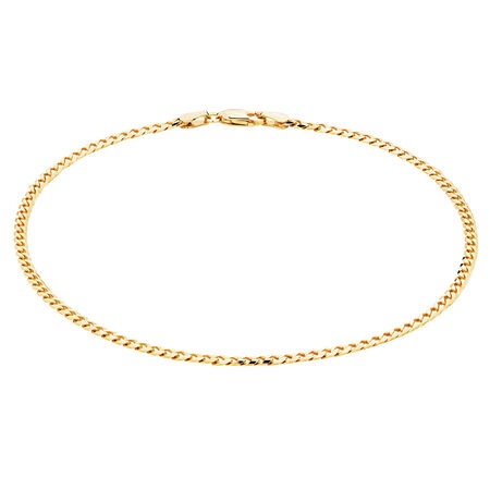 """27cm (11"""") Curb Anklet in 10ct Yellow Gold"""
