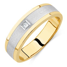 Men's Diamond Set Ring in 10ct Yellow & White Gold