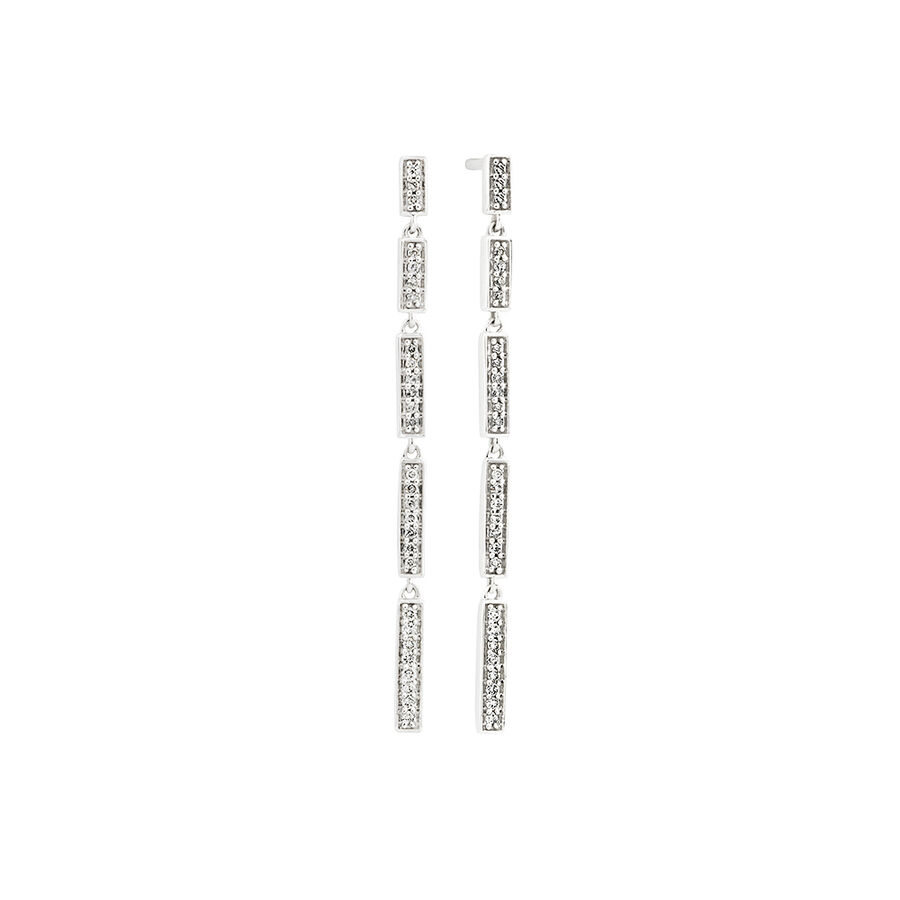Drop Earrings with 0.16 Carat TW of Diamonds in 10ct White Gold