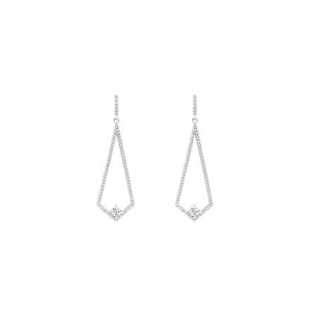Cubic Zirconia Drop Earrings in Sterling Silver