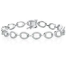 Tennis Bracelet with 3/4 Carat TW of Diamonds in 10ct White Gold
