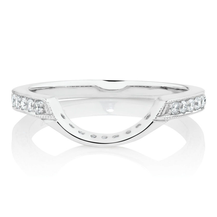 Online Exclusive - Ring with 0.31 Carat TD of Diamonds in 18ct White Gold
