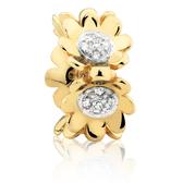 Diamond Set & 10ct Yellow Gold Flower Charm