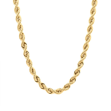 """60cm (24"""") Rope Chain in 10ct Yellow Gold"""